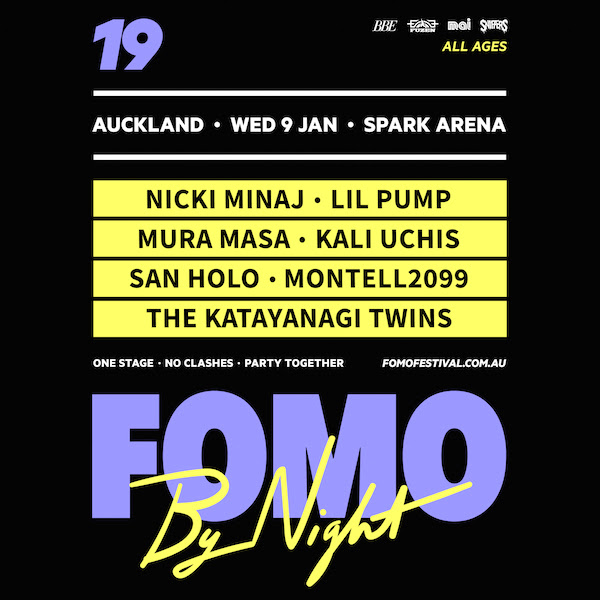 FOMO By Night pre-sale signup : Monday 24th September  PRE-SALE SIGNUP ENDS WEDNESDAY 26th SEPTEMBER 5pm  FOMO By Night pre-sale starts: Thursday 27th September 10am  General on-sale: Monday, October 1st 10am