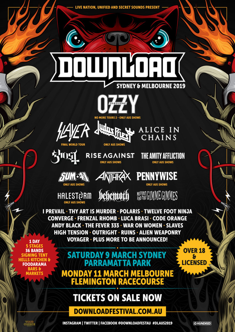 3213940f1cfff4 DOWNLOAD FESTIVAL AUSTRALIA 2019 - Second Lineup Announced! — Libel ...
