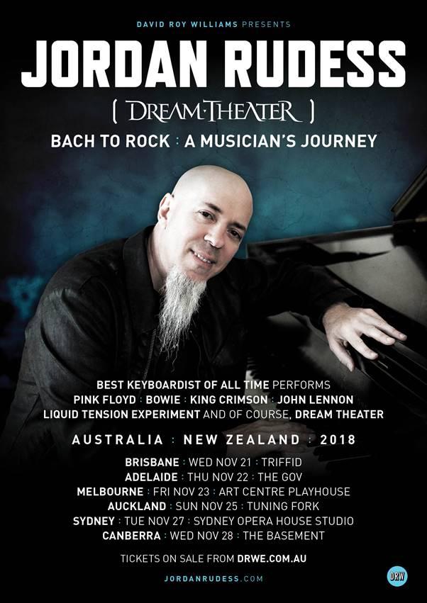 Ticket information via   http://davidroywilliams.com/tours/jordanrudess/