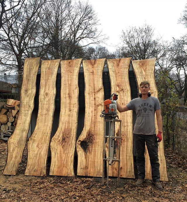 maple slabs - 10 feet X  6/4  #stihl #ms661 #maple #alaskanmill #treework #slabs #pfanner