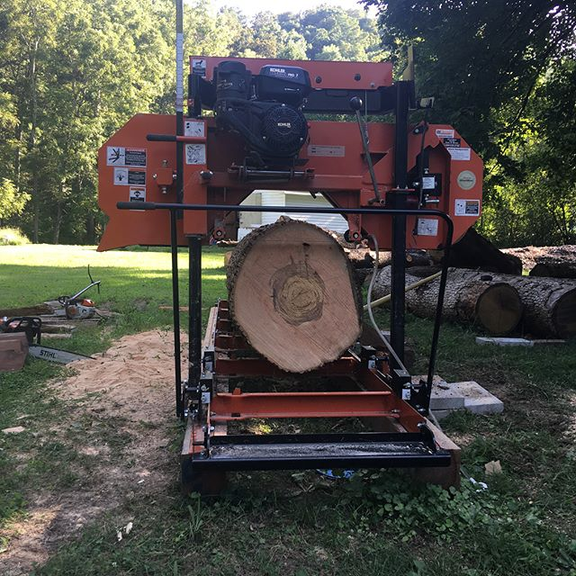 Kevin's milling 12/4 ash for a woodworking bench.  It's so great to give trees we cut down an end use and a future as lumber.  So many trees in nashville get fed into a tub grinder, treated and dyed, and turned into mulch.