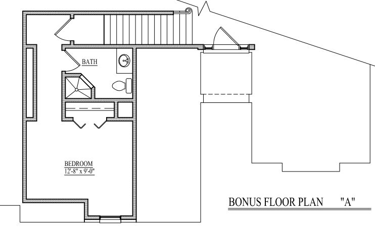 Bonus A Floorplan Mother In Law Suite- Open Concept Ranch PNG.PNG