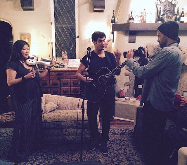 Music video shoot with Elyes Gabel & Cottrell Guidry