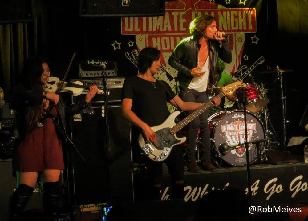 Photo by Rob Meives. Playing with bassist Dan Curcio (Beware of Darkness) and the band Fire (Brett Copeland, Nazim Chambi, Tommy Paradise) at Ultimate Jam Night at the Whisky-A-Gogo