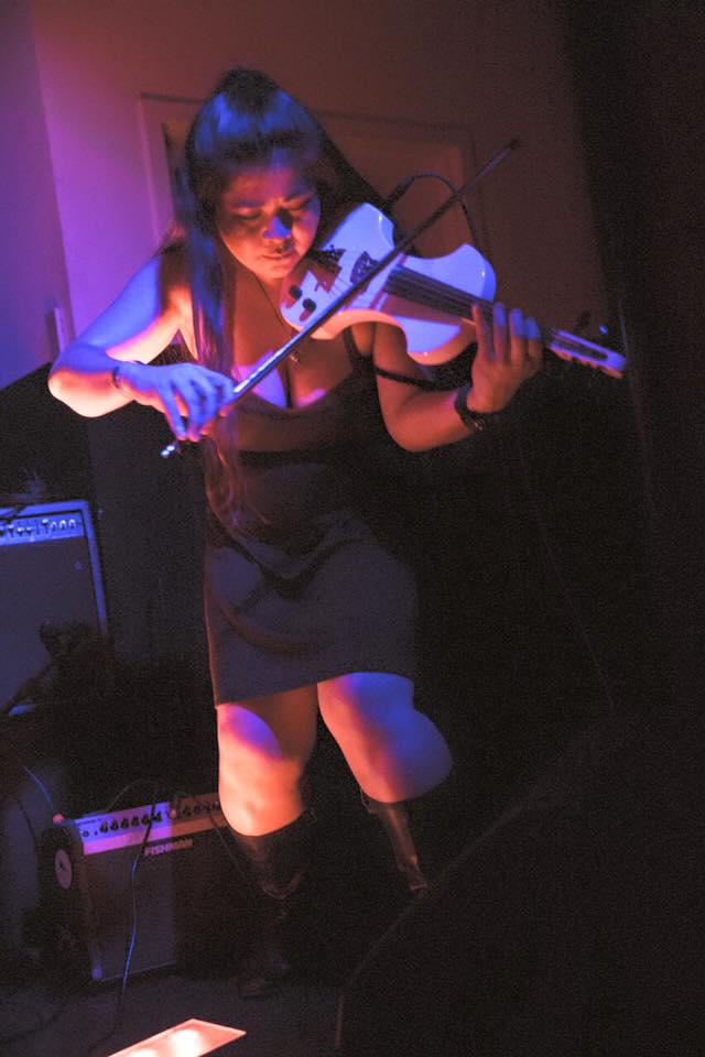 Photo by Tyler Miles. Playing with the band Fire opening for Beware of Darkness at the Resident, DTLA