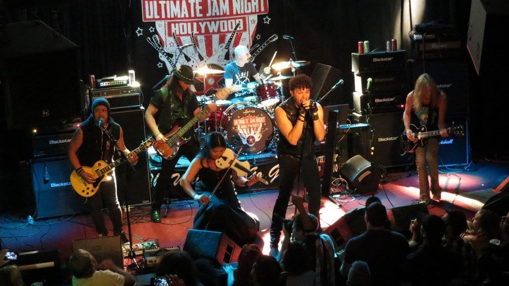 Photo by Rob Meives from Ultimate Jam Night #81 with Mitch Perry, Chuck Wright, Matt Starr, Paulie Z, and Walter Ino