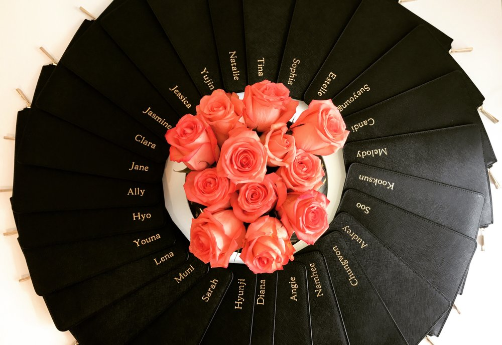 Wedding Circle of Black Pouches