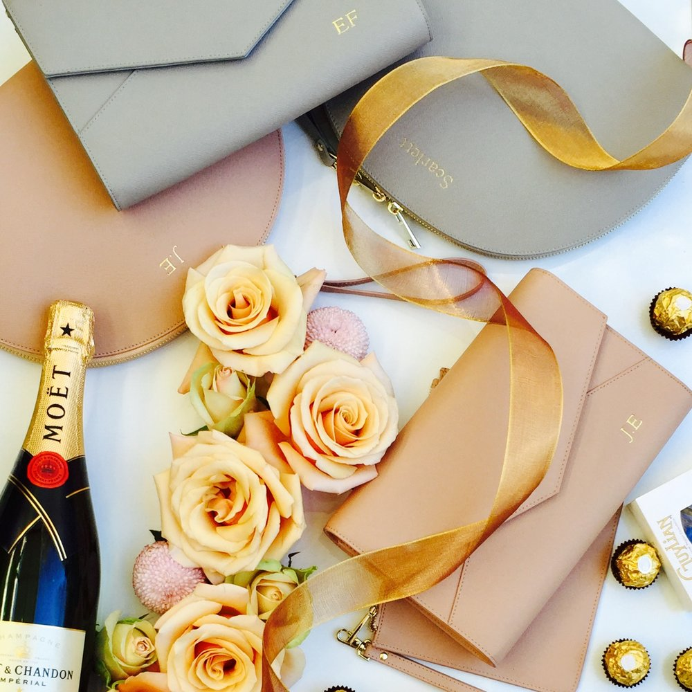 Wedding Planning?  - Our personalised leather bags and accessories are perfect to use on your big day and they make the most beautiful bridesmaid gifts.