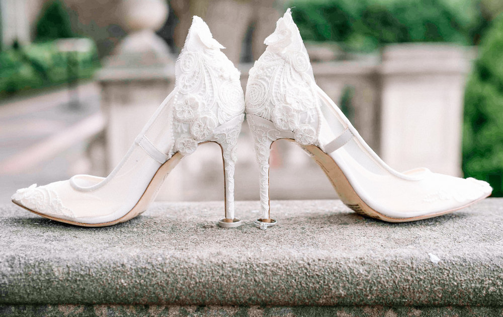 Wedding Heels and ring at Graydon Hall Manor