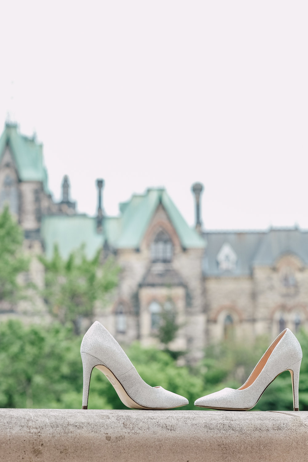 Wedding Photography at Parliament Hill Brides Shoes in Ottawa