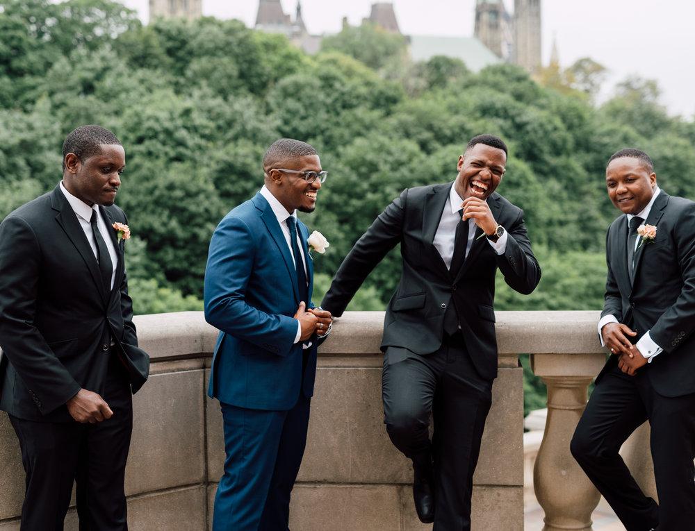 Ottawa Wedding Photography of 4 groomsmen