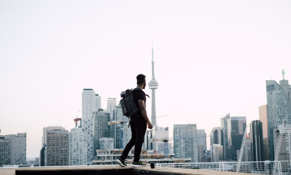 Roof-topping in toronto by a social media photographer