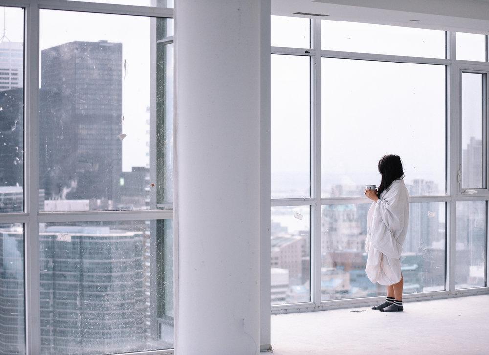 Girl inside a toronto condo by a social media photographer