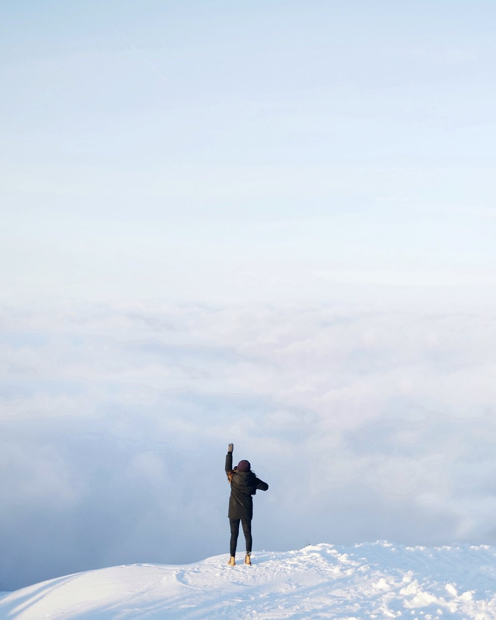 Ontop of a mountain by a social media photographer