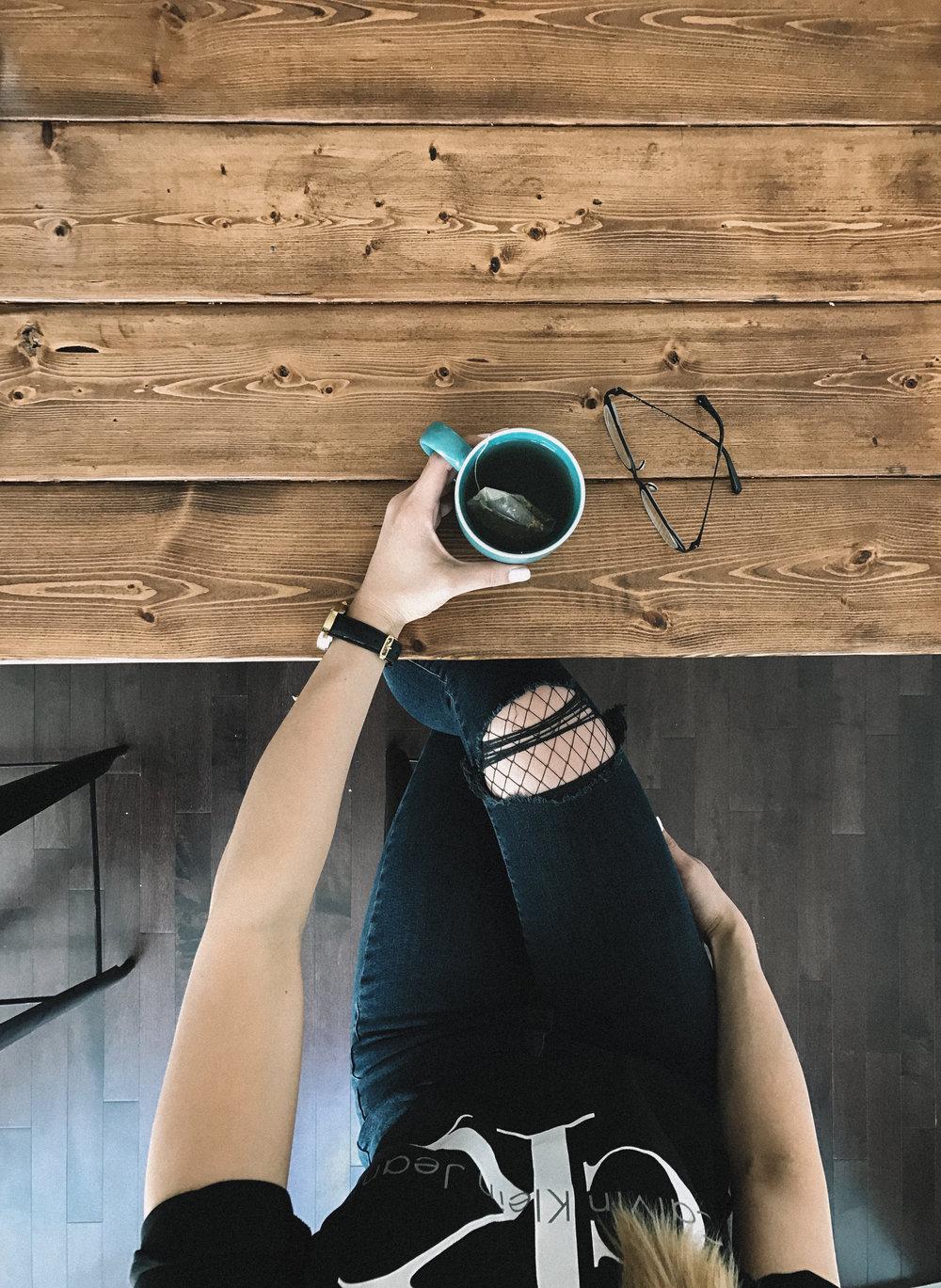 Cool girl tea by a social media photographer
