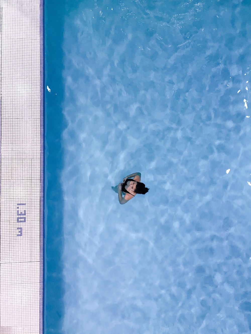 Pool shot from above by a social media photographer