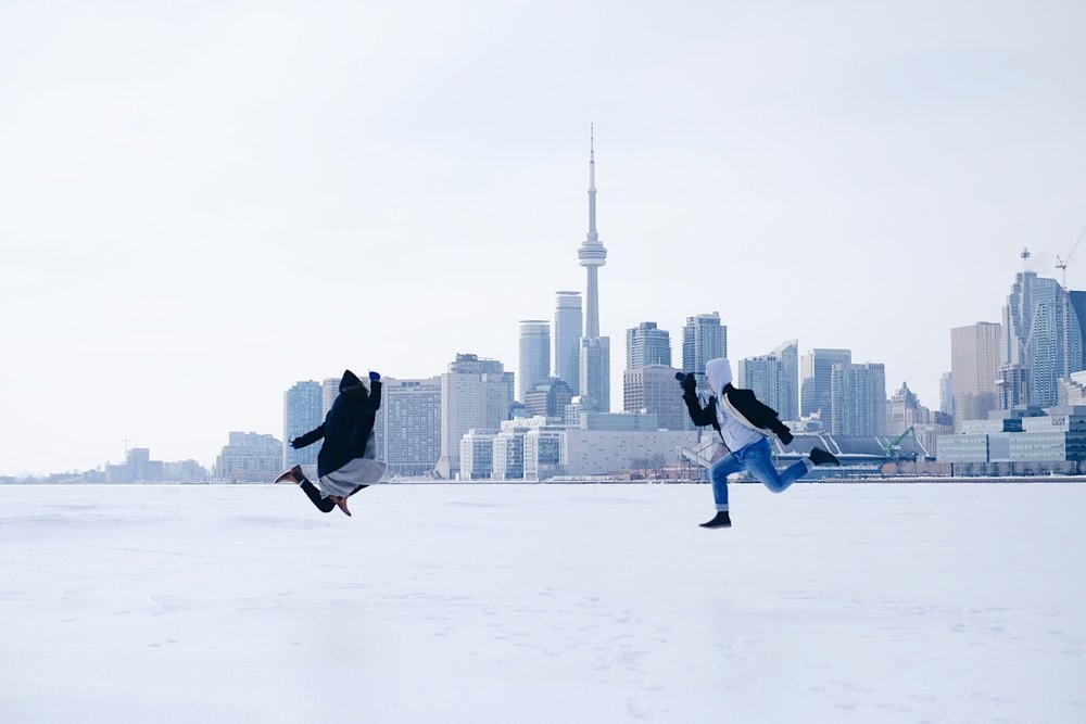 Jumping for joy by a social media photographer in toronto
