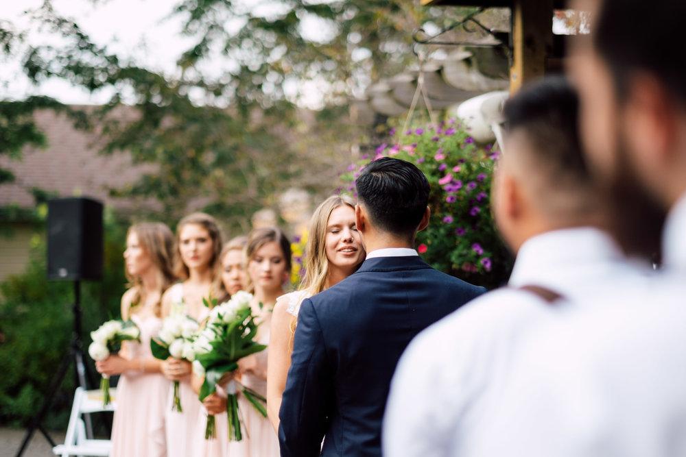 Wedding Photography toronto of bride crying at Madsens Greenhouse