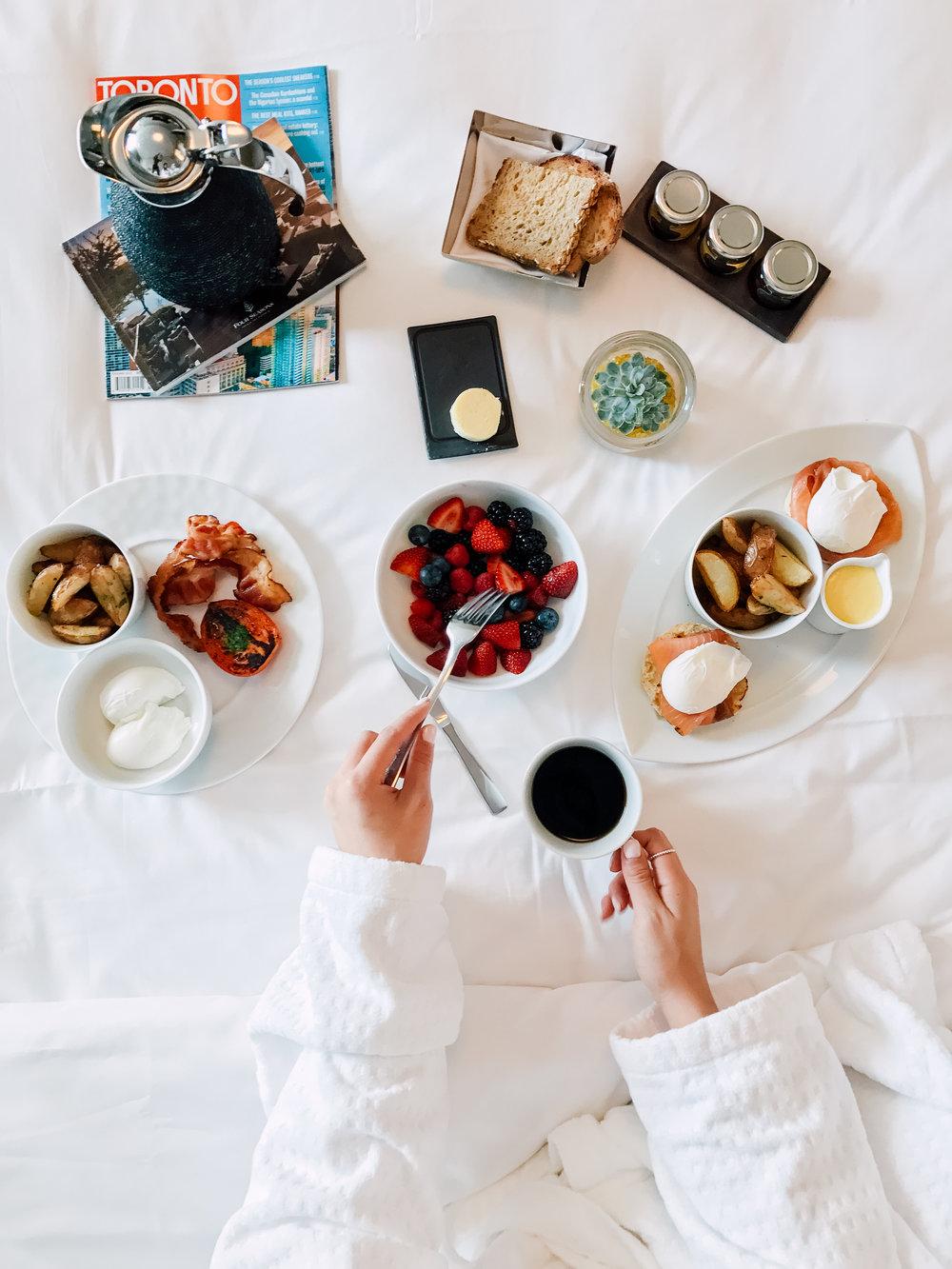 Hotel breakfast shot for instagram by a social media photographer