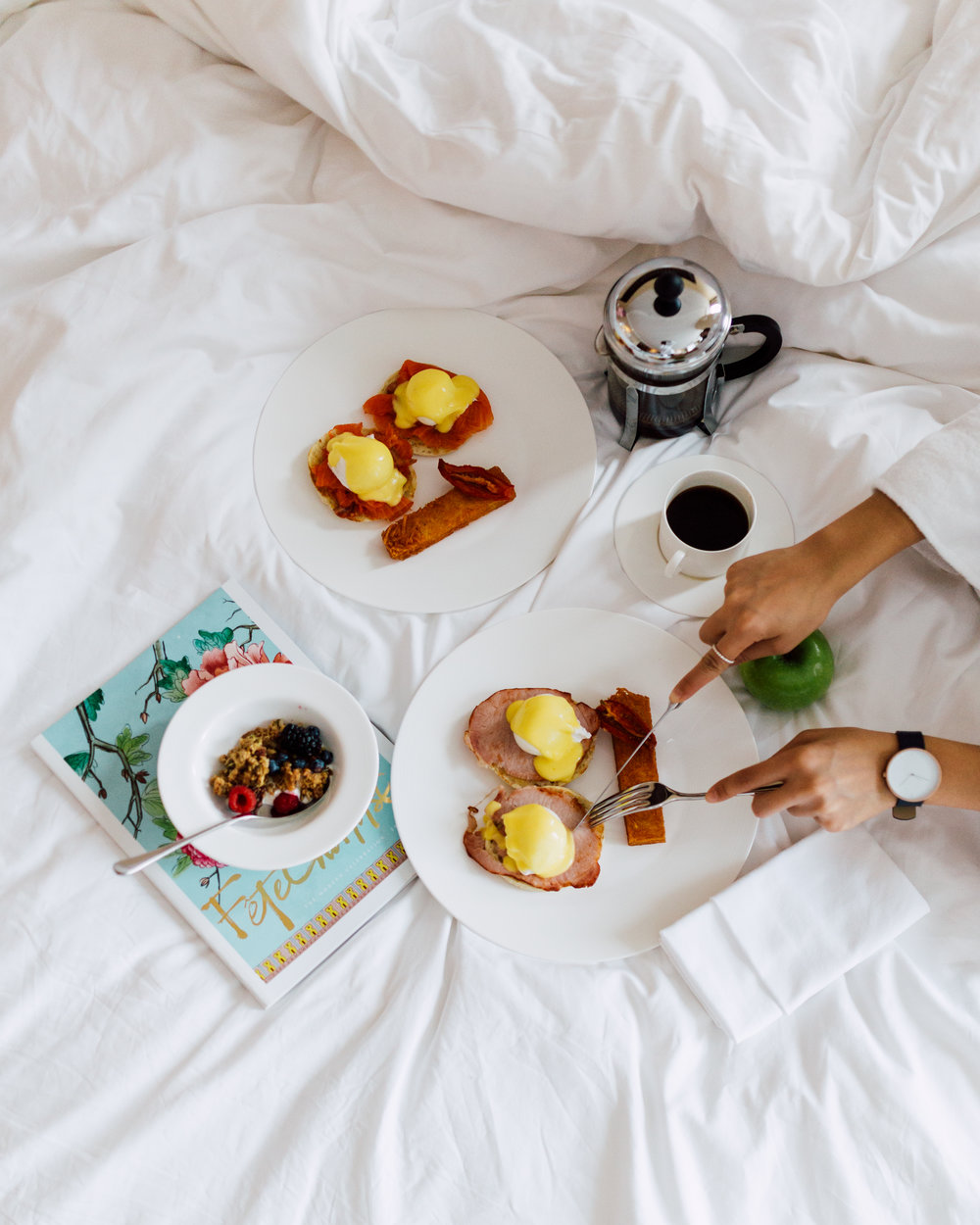 Luxury lifestyle breakfast by a social media photographer