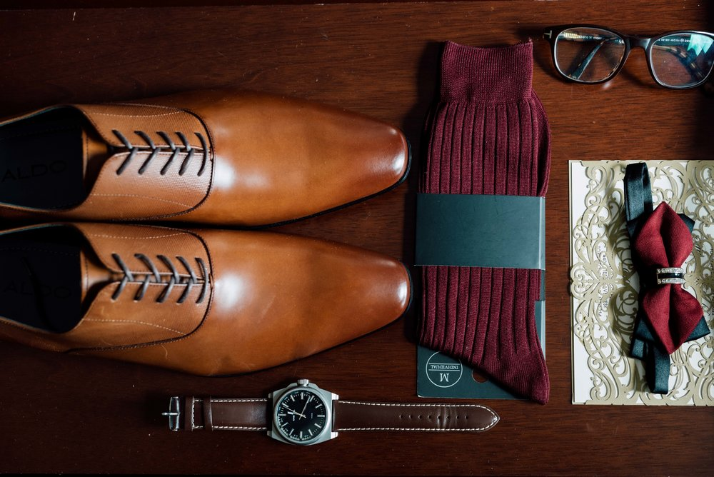 Details of groom wedding shoes in toronto by best photographer