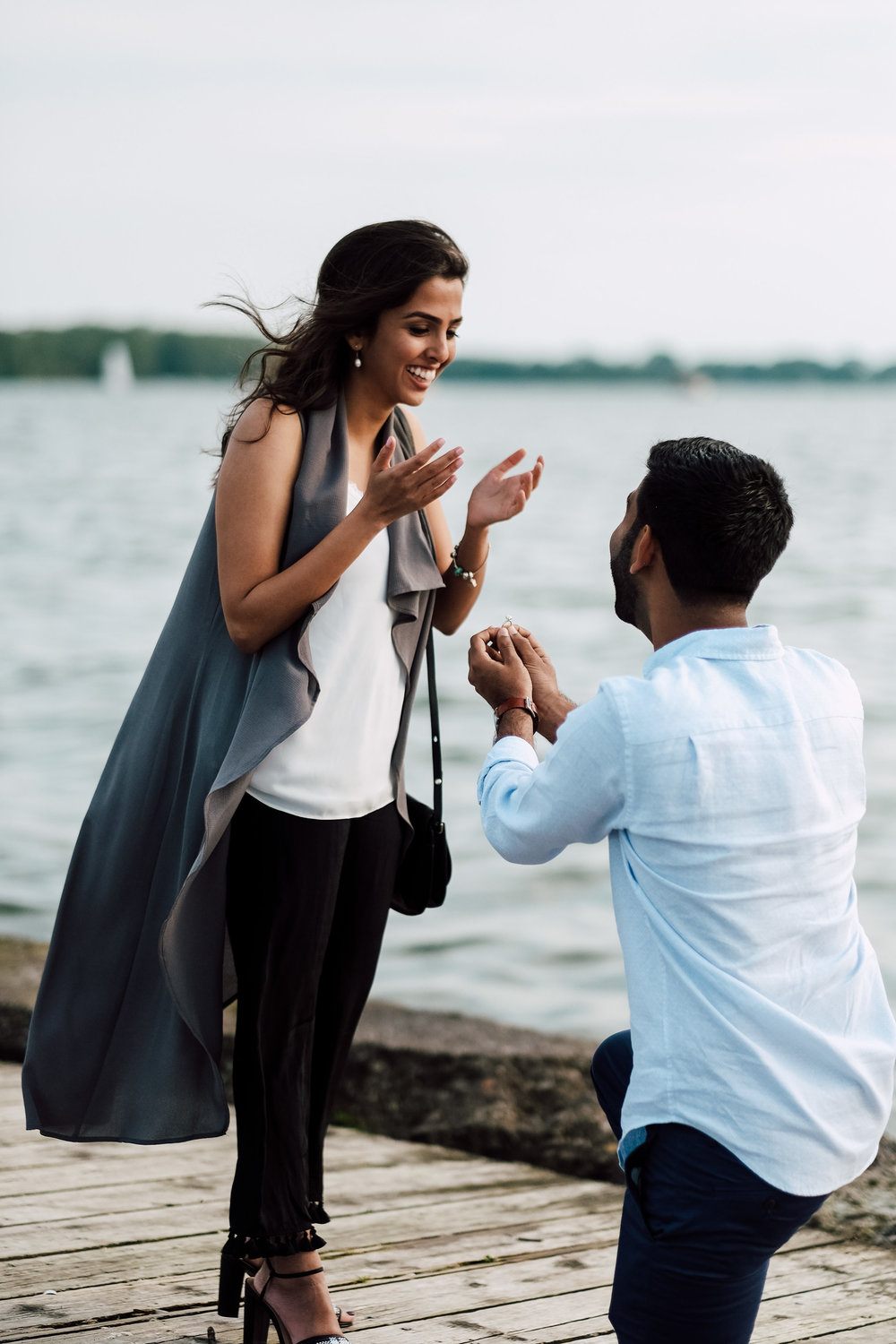 Proposal at polson pier captured by both photo & cinema