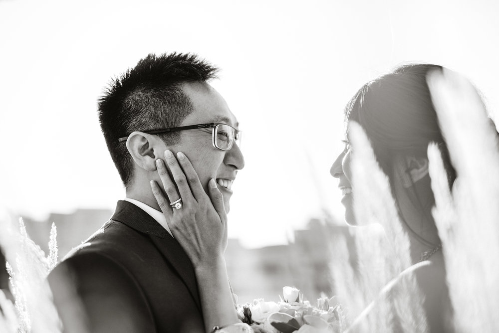 Photograph of young couple at a wedding in North York