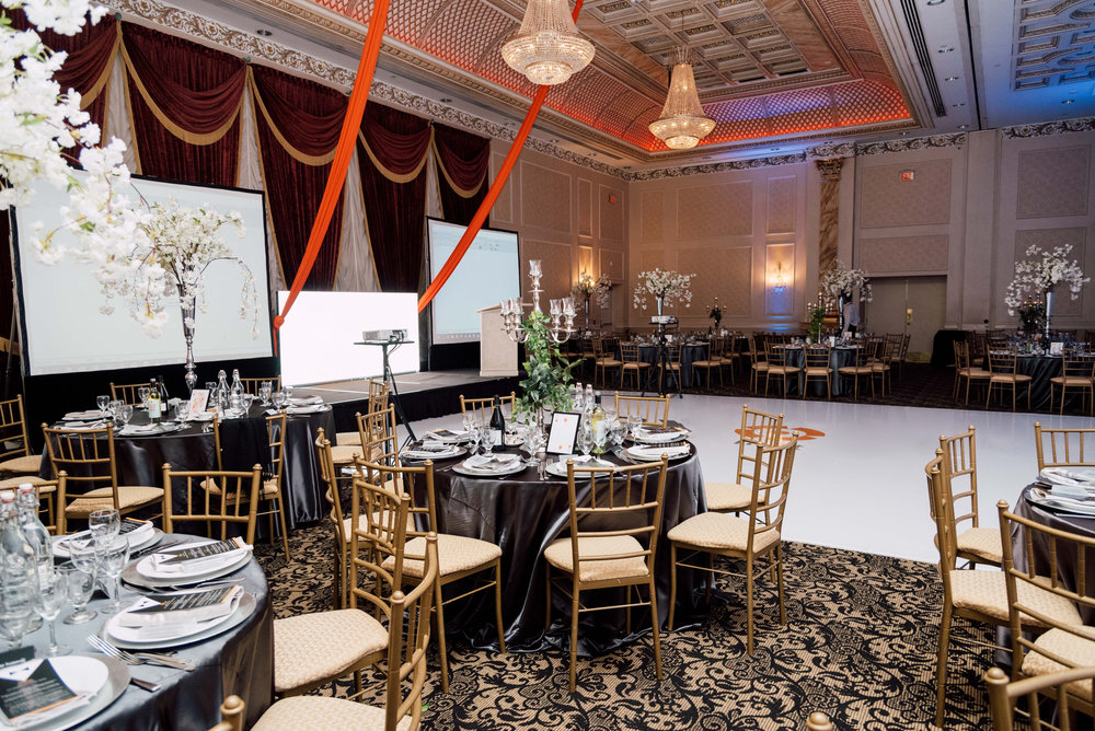 Table set up Special event photography at chateau le jardin in vaughn ontario