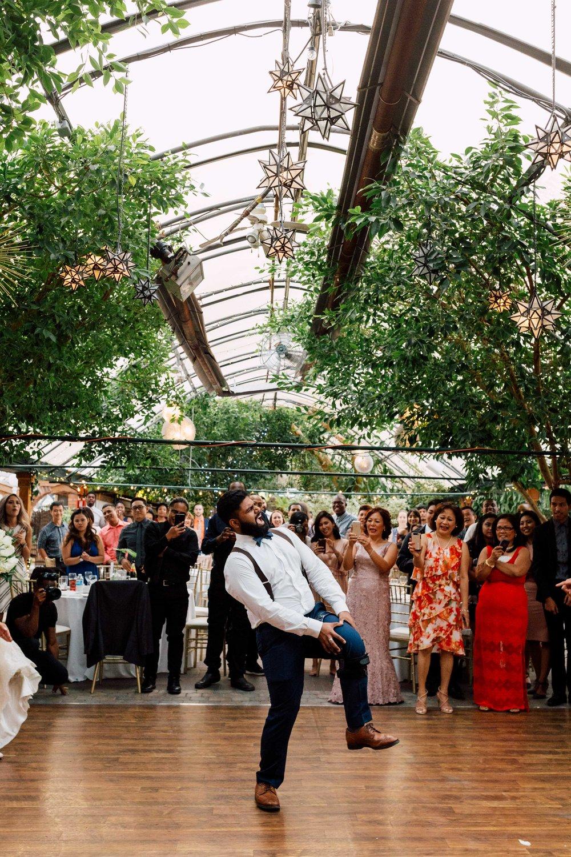 Break a leg on the dance floor at a wedding