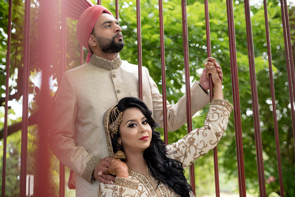 Cute bengali indian couple engagement photography at Gairloch Gardens oakville