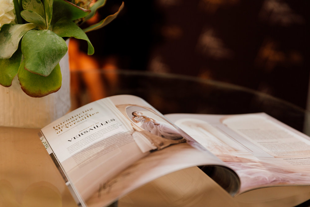 Luxury magazine at a brand launch event