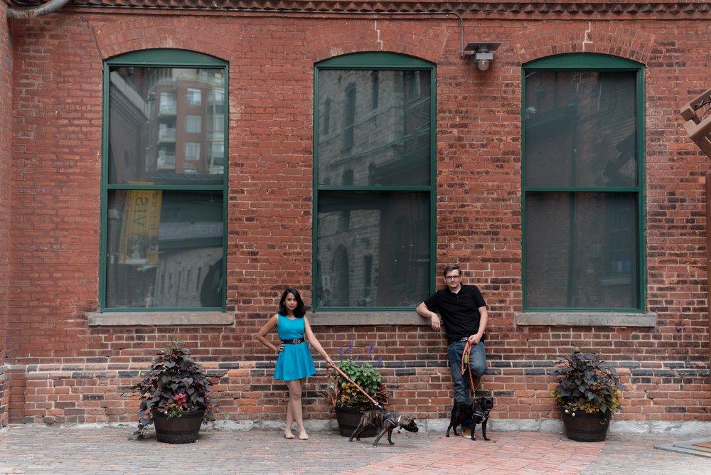 Liz + Sebastian in Distillery