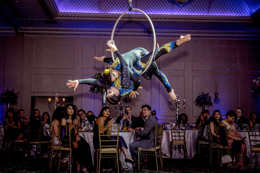 Ariel Photography at chateau le Jardin in toronto