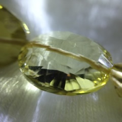 This one is a micro faceted champagne citrine. Very special!