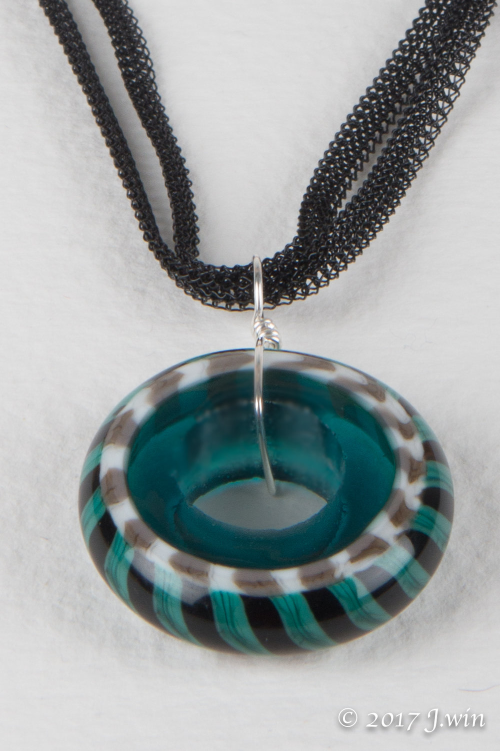Hand made glass pendant necklace