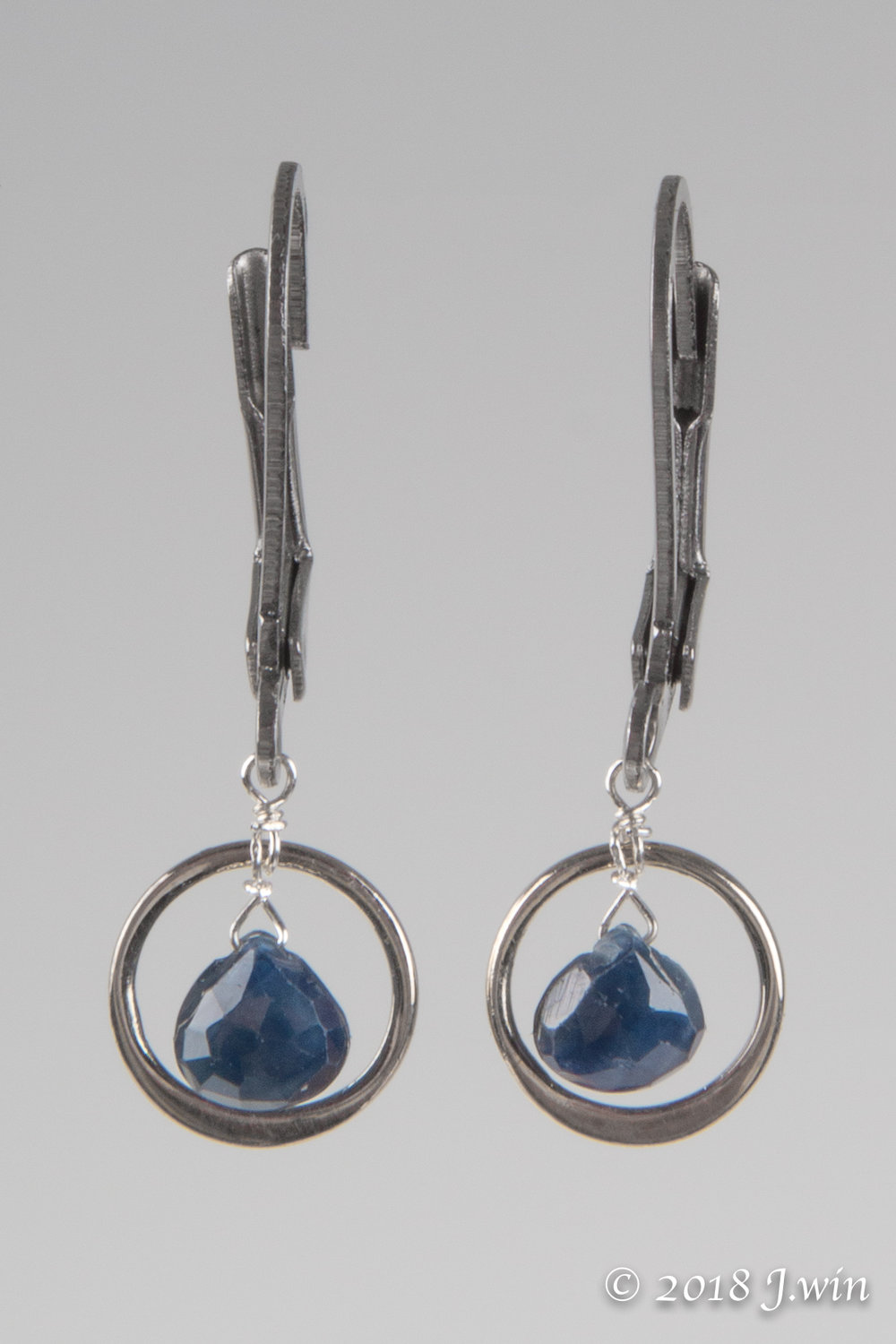 Sapphires on stainless steel lever backs