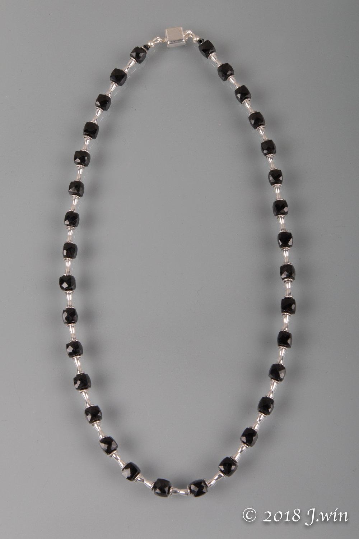 Black garnet necklace
