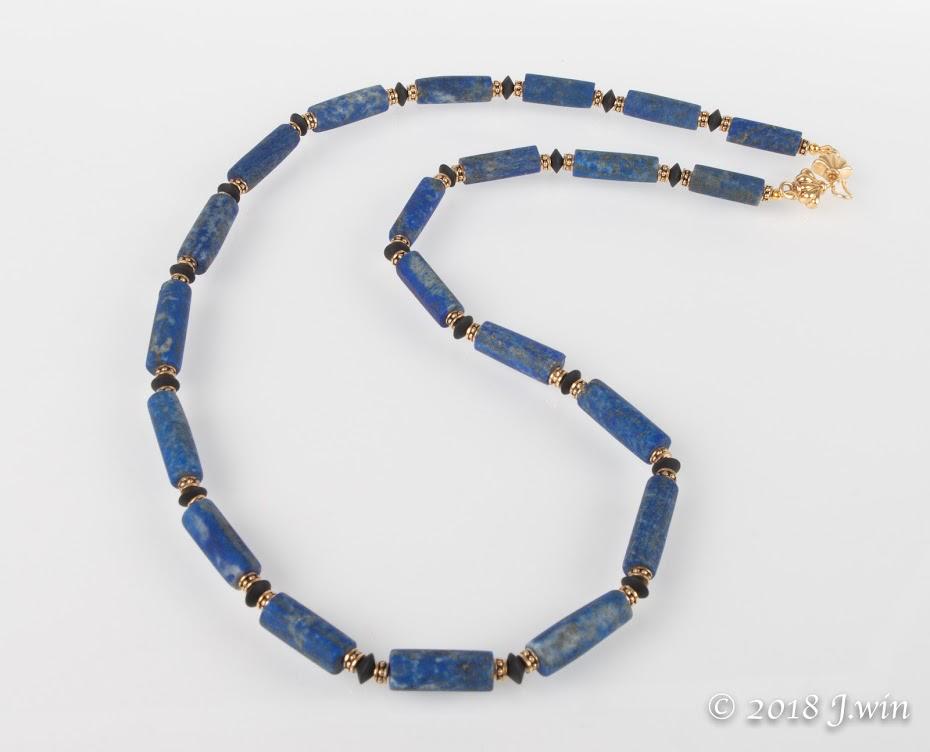 Lapis Lazuli and black onyx necklace