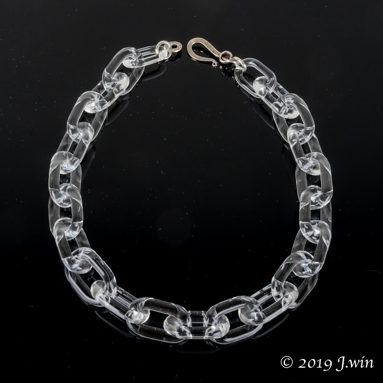 Hand made clear glass chain