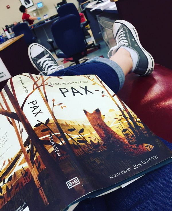 Reading while waiting to give blood...