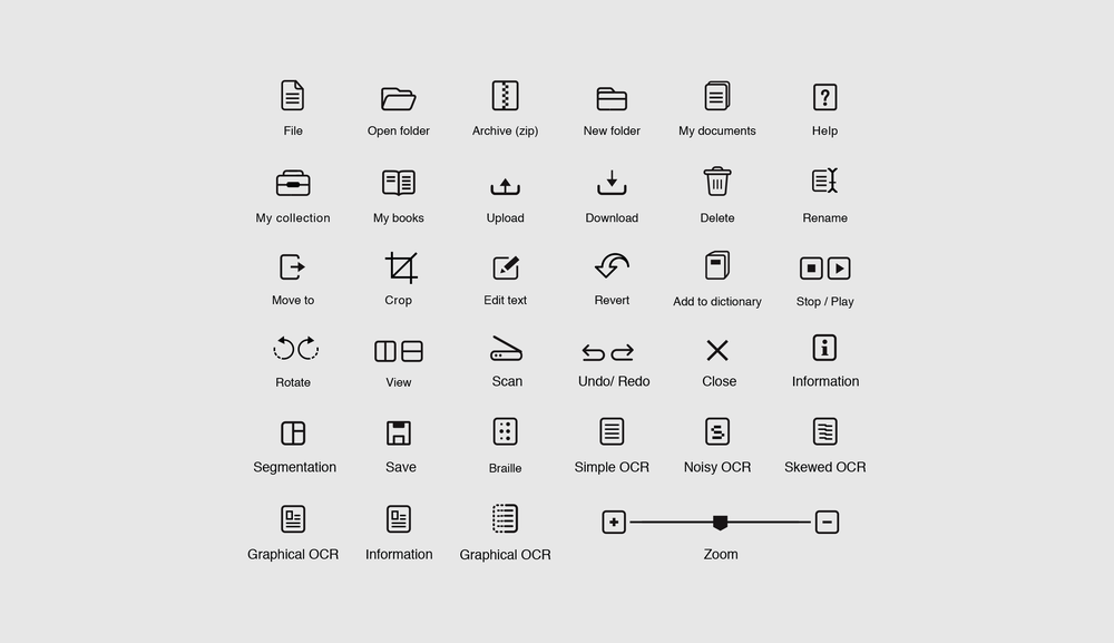 OCR Icons