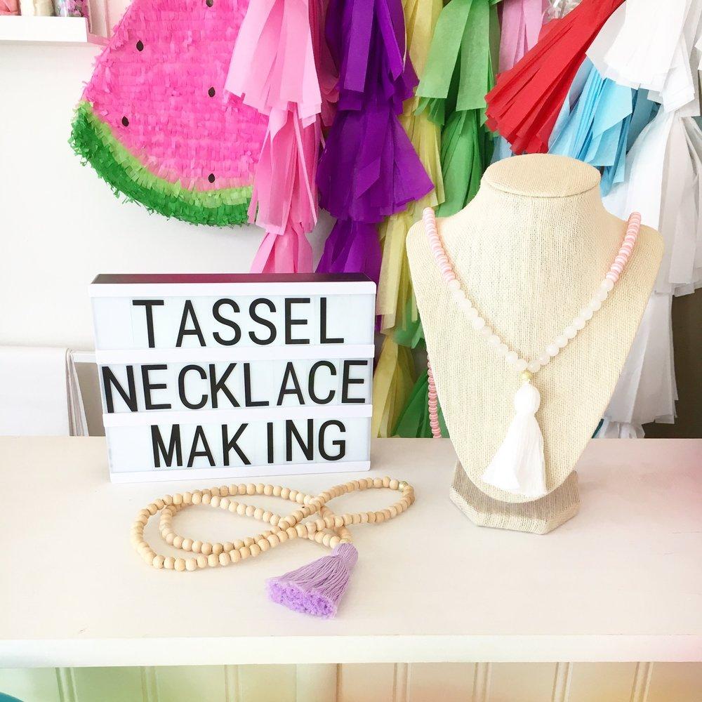 charleston bachelorette tassel making .JPG