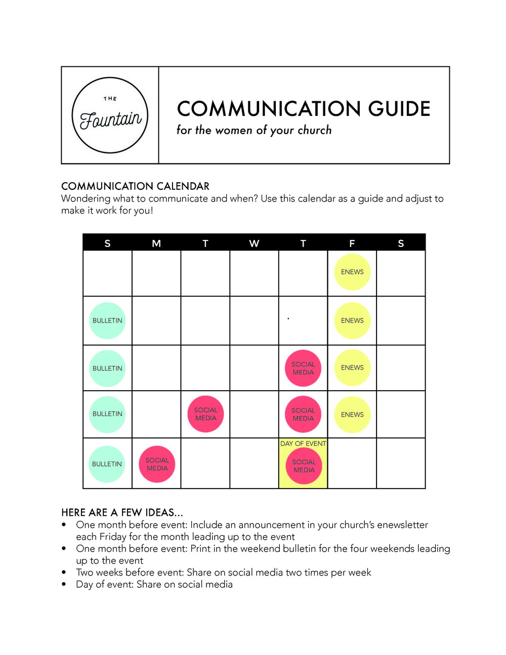 MINISTRY COMMUNICATION GUIDE