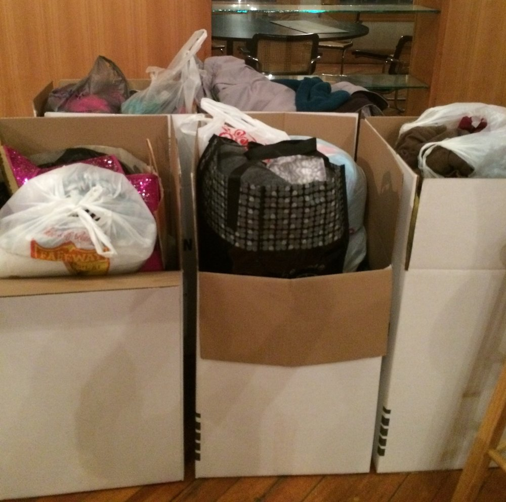 HUNDREDS OF COATS WERE COLLECTED FOR THE LOCAL WINTER WARMTH DRIVE