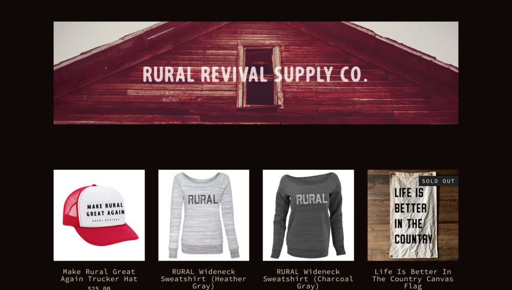 rural revival supply co. merch and website