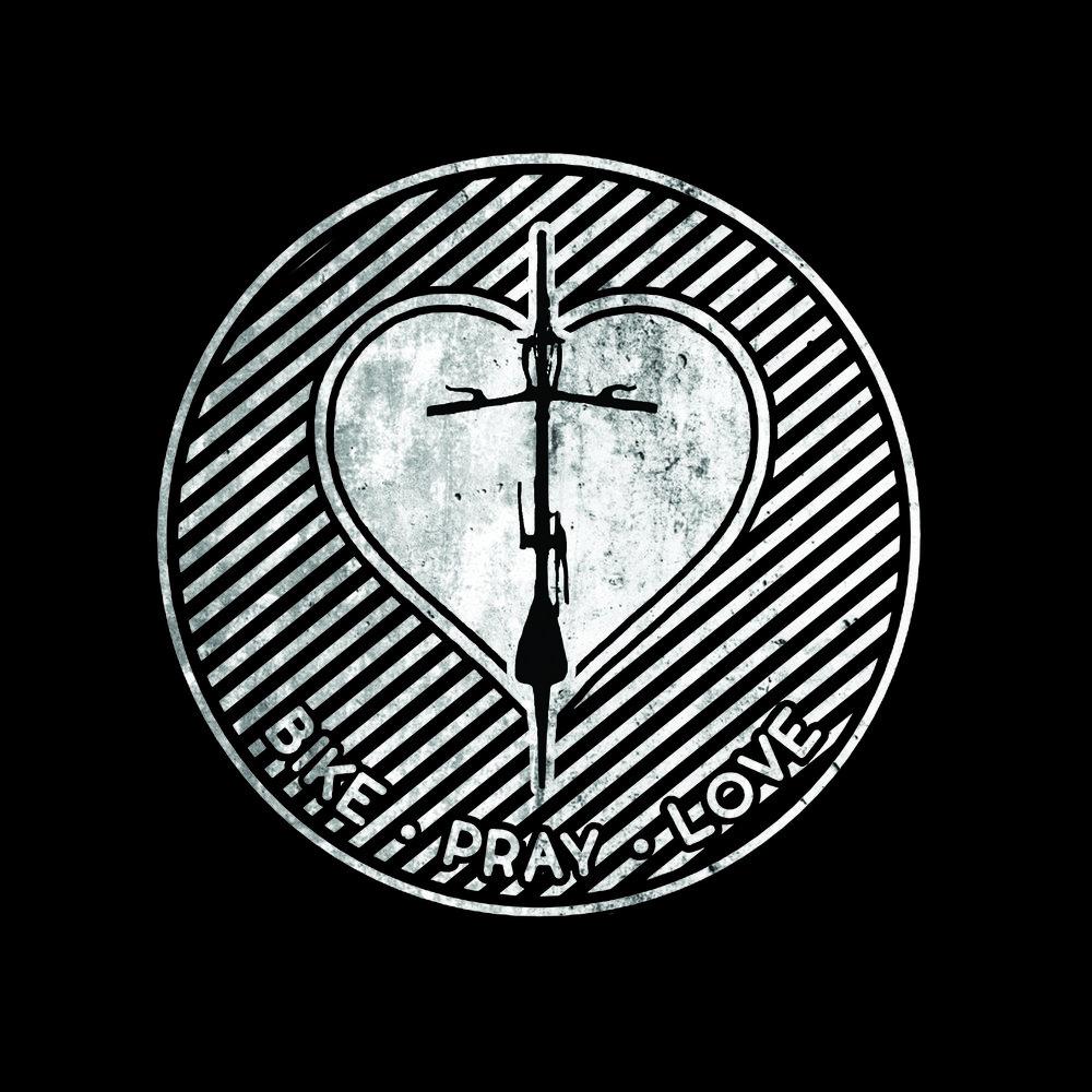 Bike. Pray. Love. logo