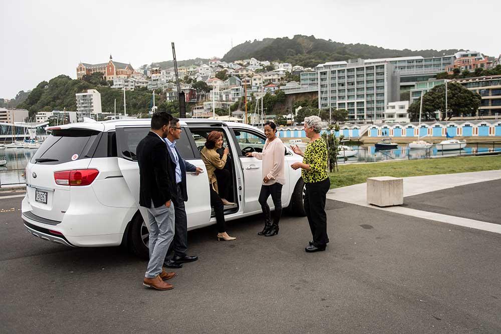 Rose-hosting-international-guests-on-Wellington-waterfront.jpg