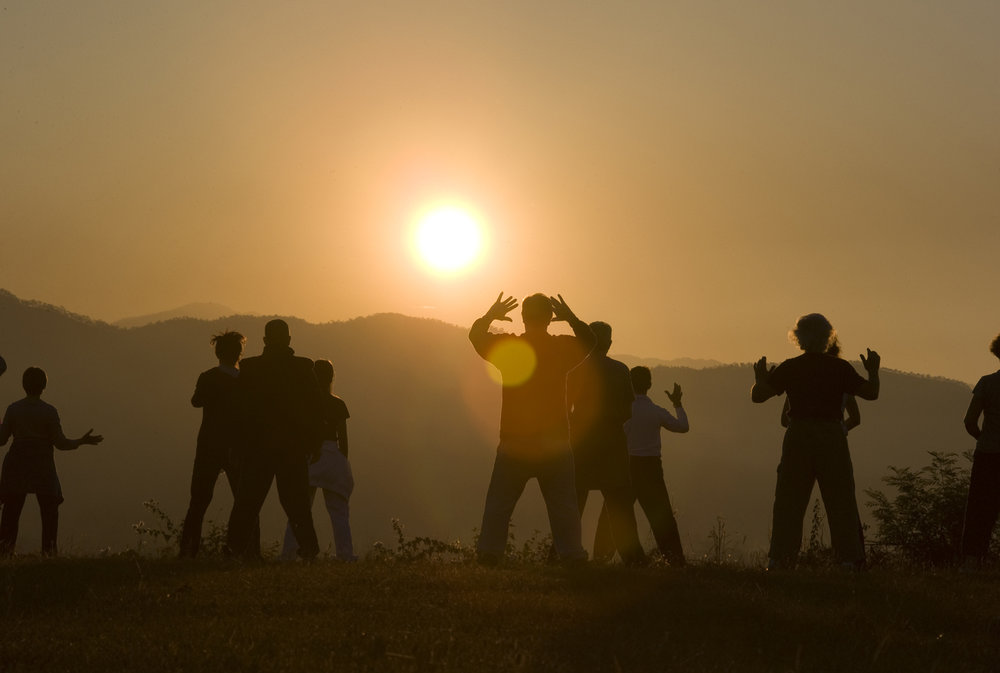 Ancient sun gazing practice resurrected as modern practitioners gather together to stare into the sun and absorb its energy.