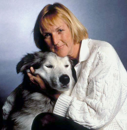 Portrait of Ingrid Newkirk with Hoss (credit: Kathy Keeney)