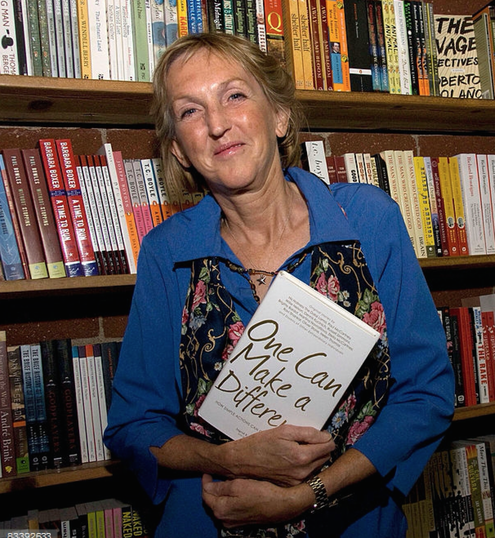 Founder Ingrid E. Newkirk poses before signing copies of 'One Can Make A Difference' at Skylight Books on October 22, 2008 in Los Angeles, California. (credit: Amanda Edwards)